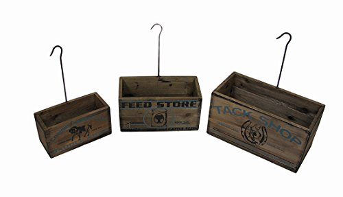 Nesting Planters - Zeckos Nesting Tack Shop Planter Boxes with Hangers (Set of 4)