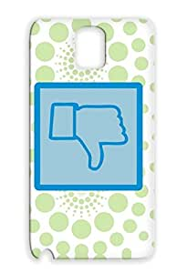 Funny Thumb Thumbs Not Down No Satire Navy Thumbs Down Case Cover For Sumsang Galaxy Note 3