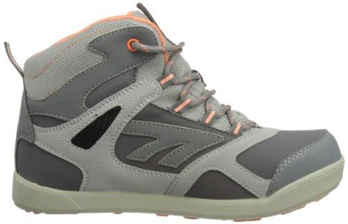 Hi-Tec Ridge Wp Jrg, Mädchen Trekking- & Wanderstiefel Grau (Charcoal/Corals)