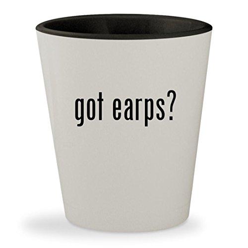got earps? - White Outer & Black Inner Ceramic 1.5oz Shot Glass (Morgan Clock Glass)