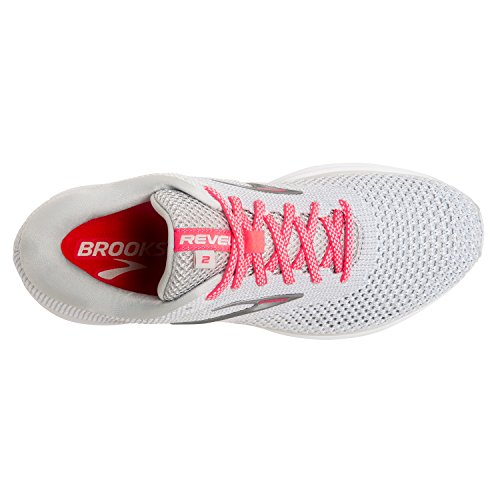 Brooks Gry 2 028 8 120281 Running WHT 5 PNK 1B Shoe Women's Revel BRK 4082580 7rgqf7