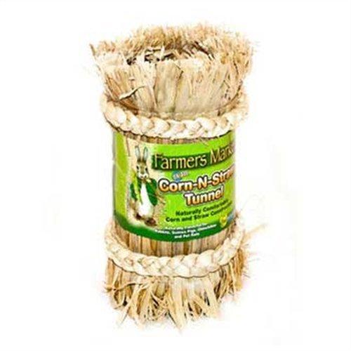Ware Manufacturing Crunchy Fiber Corn-N-Straw Tunnel Small Pet Hideout, (Ware Corn)