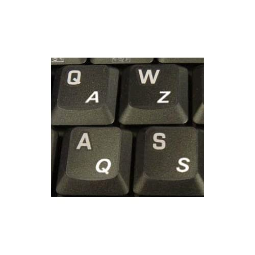 French Azerty white transparent letters