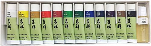 길상 일본화용 그림구 튜브 그림구 12 색세트