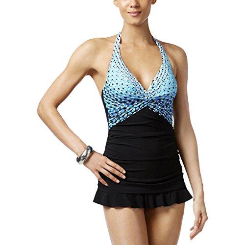 Profile by Gottex Cocoon Swimdress, Blue/Multi, - Premium Village Outlets