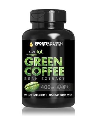 SVETOL Green Coffee Bean Extract, Liquid Softgels with 400mg of Clinically-Proven Svetol Per Cap