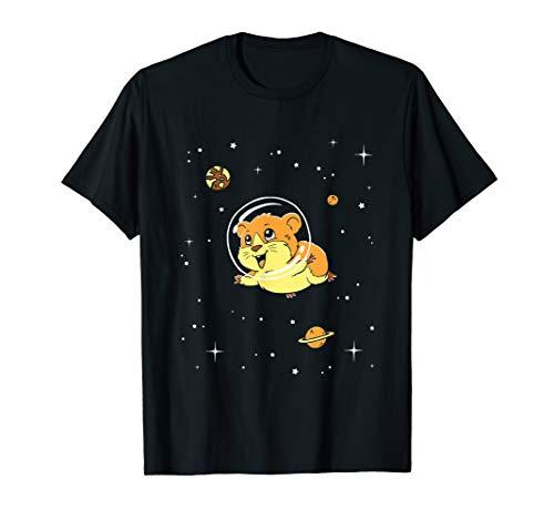 Guinea Pig In Space T-Shirt - Cute Cartoon Rodent Tee