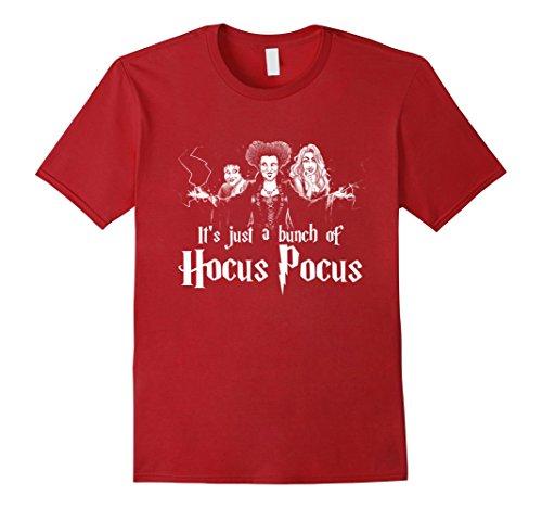 [Men's It's Just A Bunch Of Hocus Pocus T-Shirt Medium Cranberry] (Hocus Pocus Halloween Costumes)
