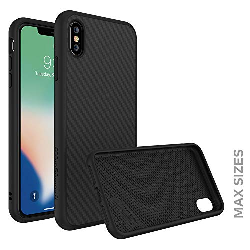 RhinoShield Case for iPhone Xs Max [SolidSuit] by Shock Absorbent Slim Design Protective Cover with Premium Matte Finish [3.5M / 11ft Drop Protection] - Carbon Fiber