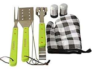 WARRAH Stainless Steel BBQ Barbecue Grill Tool Set With Aluminum Storage Case