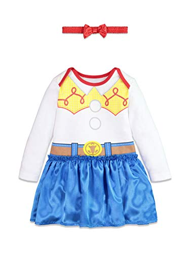 Disney Toy Story Jessie Baby Girls Costume Bodysuit Dress & Headband 6-9 Months -