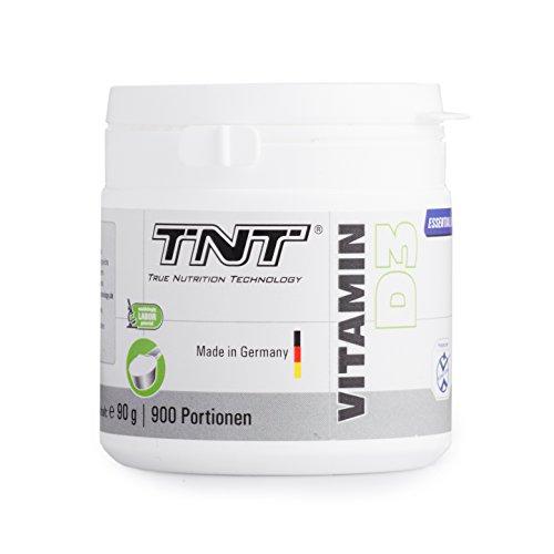 TNT Vitamin D3 Pulver aus Deutschland | Hochdosiertes Vitamin D 3 Präparat (Cholecalciferol) - Nahrungsergänzungsmittel zur Stärkung Ihres Immunsystems | Hochwertiger Vitamin-Komplex 90g Dose