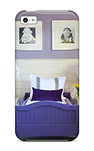 New Style ZippyDoritEduard Purple Toddler Bed In Lavender Room With White Floral Hanging Lantern Lights Premium Tpu Cover Case For Iphone 5c
