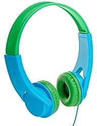 AmazonBasics Volume Limited On-Ear Headphones for Kids - Blue...
