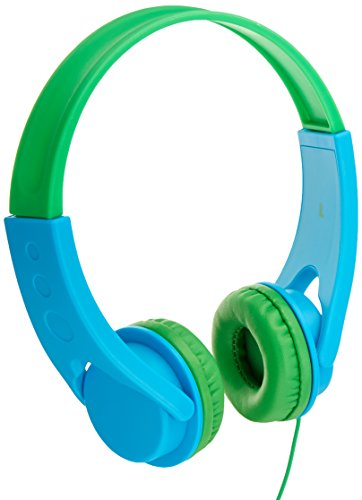 Price comparison product image AmazonBasics Volume Limited On-Ear Headphones for Kids - Blue / Green