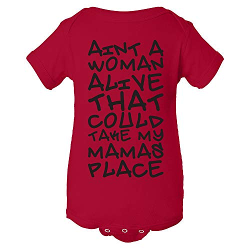 Ain't a Woman Alive Could Take My Mamas Place - Dear Mama Lyrics Rap Hip-Hop Infant Creeper Bodysuit - 6 Month - Red by UGP Campus Apparel