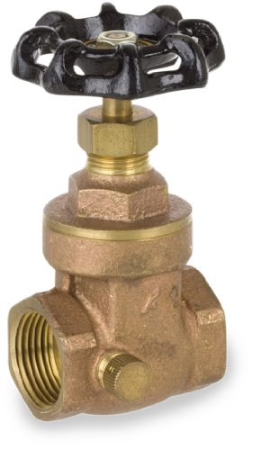 "Smith-Cooper International 01718103IL  3/4"" IPS Gate Valve With Drain NL, NPT Female Connector, Lead-Free Brass"