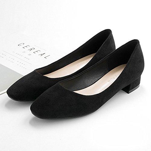 Del Mujer Cabeza Partido La De Negro Zapatos La Con 5cm Tacones Con De De GAOLIM 2 En Trabajar Superficial Primavera Único Zapatos Boca Altos 8RqxwwfS
