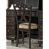 Cinderella Writing Desk Chair by Home Elegance in Dark Cherry