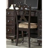 Cinderella Writing Desk Chair by Home Elegance in Dark Cherry
