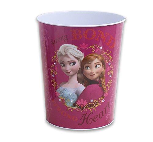 - Disney Frozen Elsa & Anna Tin Waste Basket