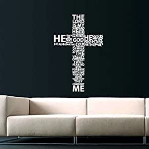 Cross Jesus Christ Wall Decal Religion Prayer Writing