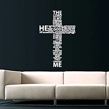 Jesus Christ Wall Decal Religion Prayer Writing Decals Wall Vinyl