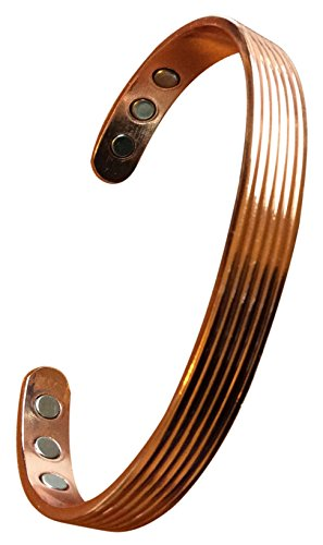 Wellness Magnetic Copper Bracelet For Men   Women  Natural Relief From Pain Fatigue Insomnia Arthritis   More  In An Organic Cotton Bag
