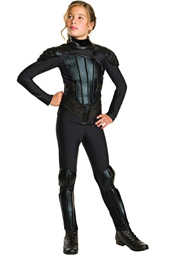 Rubie's Costume Rebel Mockingjay Part 1 The Hunger Games Deluxe Katniss Costume, Small, One Color]()