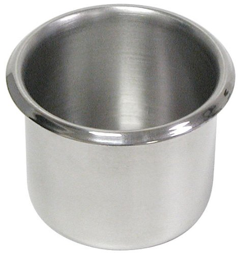 Trademark Stainless Steel Dual Size Table Drop-In Cup Holders for Tables (Set of 10) by Trademark Global