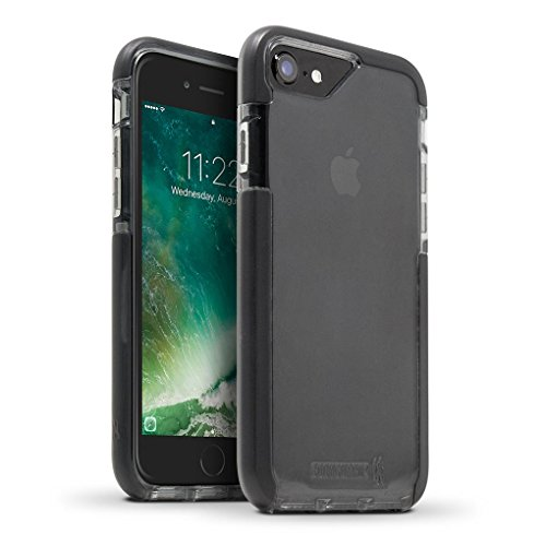 BodyGuardz - Ace Pro Case for Apple iPhone 7 and iPhone 8 (Not Plus) Featuring Unequal Technology, Extreme Impact and Scratch Protection for Apple iPhone 7/8 (Not Plus) (Smoke/Black)