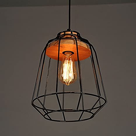Winsoon vintage industrial diy metal ceiling lamp light pendant winsoon vintage industrial diy metal ceiling lamp light pendant lighting wooden head new aloadofball Image collections