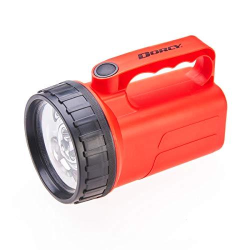 Dorcy 100 Lumen LED Floating Lantern, Flex Battery Takes AA or 6V Batteries, Easy Grip Handle
