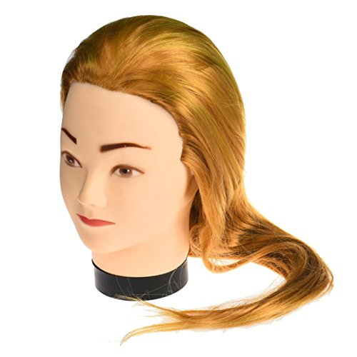 [Leewa Mannequin Head Hair Synthetic Cosmetology Mannequin Manikin Training Head Model - 60cm Hair Length] (Blow Up Head Costumes)