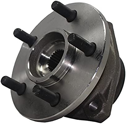 Detroit Axle - Front Wheel Hub and Bearing Assembly for 4WD Cherokee, Grand  Cherokee, Wrangler - Composite Rotors Only