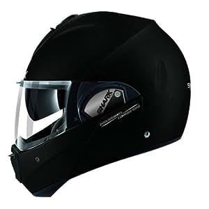 EVOline de tiburón Serie 3Fusion mate KMA motocicleta cascos, color negro, tamaño XS