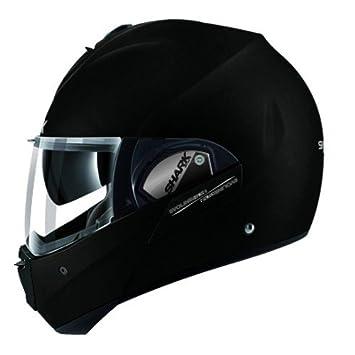 EVOline de tiburón Serie 3 Fusion mate KMA motocicleta cascos, color negro, tamaño XS