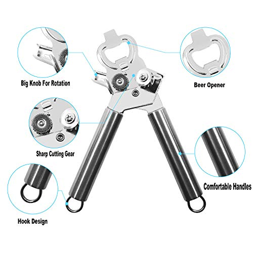 JOYAN'S Professional Can Opener With Lid Lifter, Multifuncti