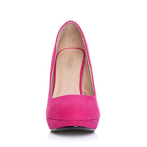 FOLLOW ME FMUK LADIES/HIGH HEEL PLATFORM SHOES IN SIZE- 3/36-8/41 WOMENS COURT SHOE HEELS NEW FNZRJhtk