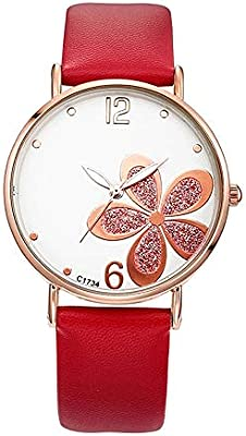 Ultra Thin Ladies Watch Trend Female Watch Four Leaf Clover Quartz Hand Watch Ladies Watch Life Waterproof Design Good Material Fashion Color Red Buy Online At Best Price In Uae Amazon Ae