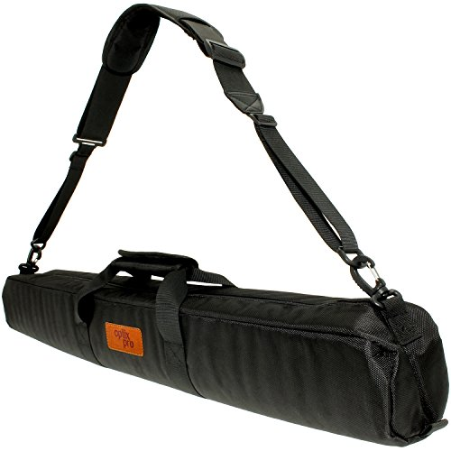 Optix Pro 80cm Padded Travel Carrying Bag with Shoulder Strap for Manfrotto Tripods including Befree Light Compact Action & Advanced 190 XPRO, 055 XPRO Fluid Video, 290 XTRA, 545B Pro Heavy by Optix Pro