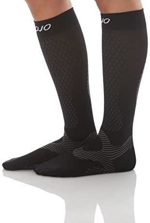 Compression Socks for Men & Woman - Mojo Power Performance & Recovery (Black, XL)