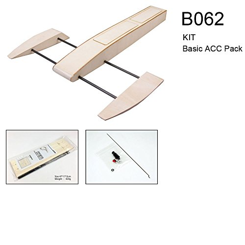 Dancing Wings Hobby RC Outrigger Shrimp Boat Wooden 495mm Sponson Race Boat Kit to build for adults (B062) - Outrigger Boat