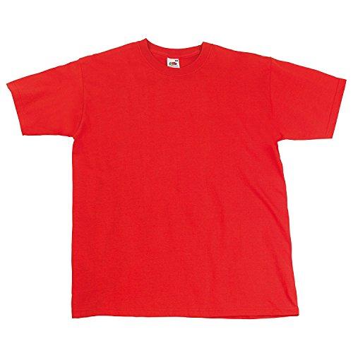 Fruit Of The Loom Herren Kurzarm T-Shirt S / 89-94cm Brust,Ziegelrot