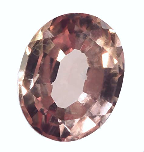 Lab Padparadscha Sapphire Oval Unset Loose Gemstone  9mm ()
