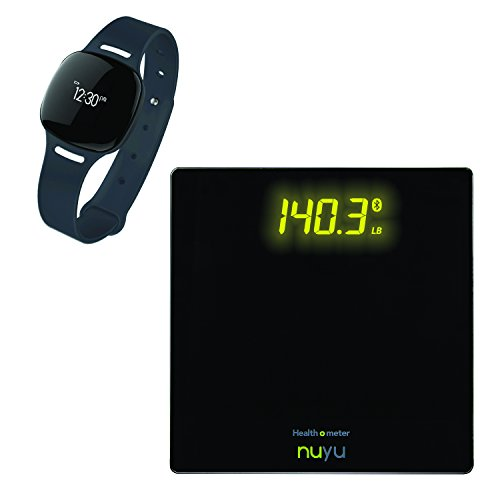 Health o meter Nuyu Value Pack Wireless Activity Tracker Plus Smart Scale