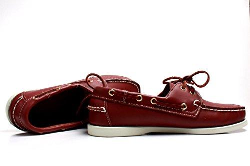 5 Amos520 Rosso da 39 EU Barca Scarpe Uomo Red U0qr1KI0wT