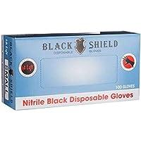 Hi Lift Nitrile Disposable Gloves, Black, Medium, 100 Pieces