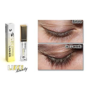 LUXE Beauty LASHES Eyelash Growth Serum/Lash Boost & Eyebrow Growth with Amplifying Peptide Complex, 0.23 oz