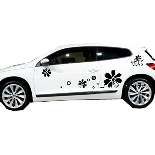 Self Adhesive Graphic (Fochutech 1 Set Car Auto Body Sticker Sport Self-Adhesive Side Truck Vinyl Graphics Decals Circle Flower (Blue))